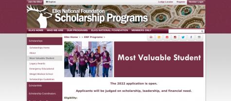 Elks Scholarship (11-15-21)
